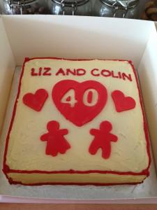 Red Velvet 10 inch square anniversary cake